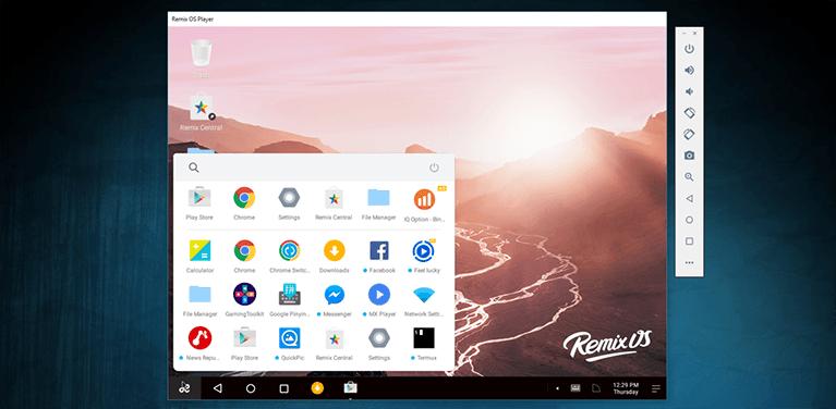 remix os player - uno de los mejores emuladores para PC